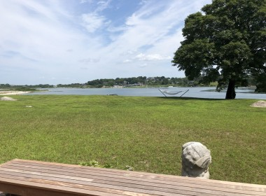 View over front yard and Hay Harbor